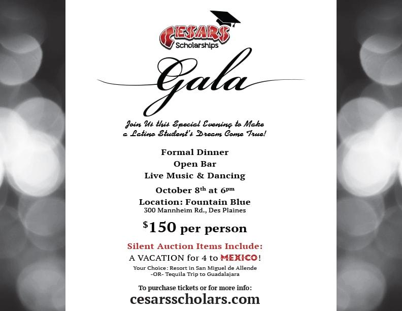 Cesars Scholarships 2017 Gala Fundraiser