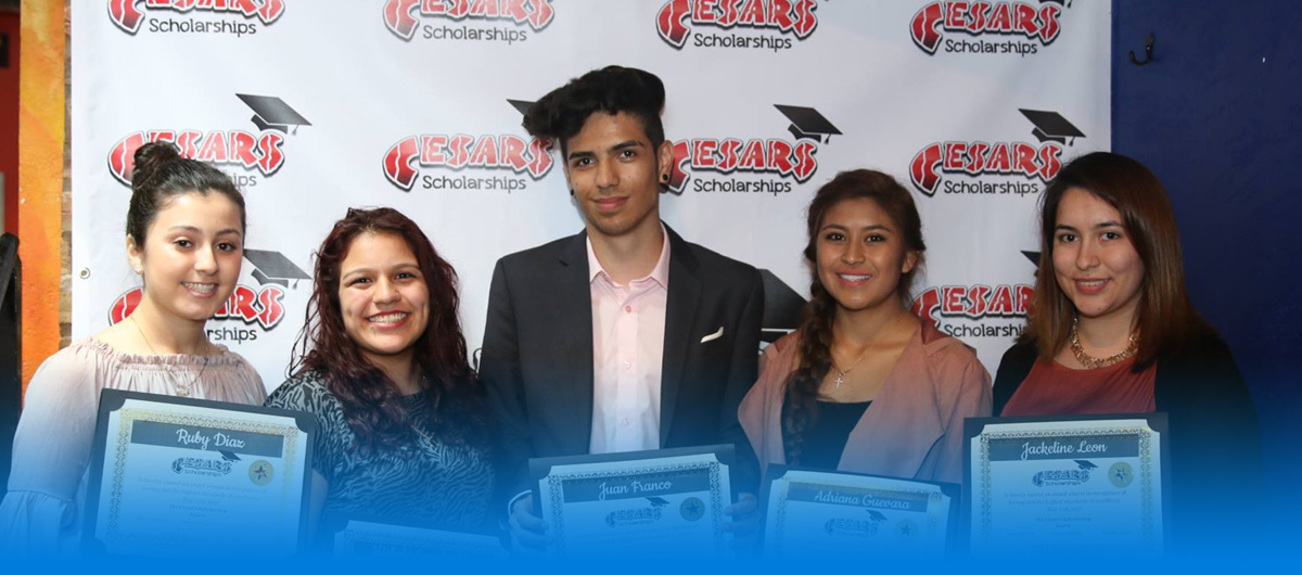 Cesars Scholarship 2017 winners